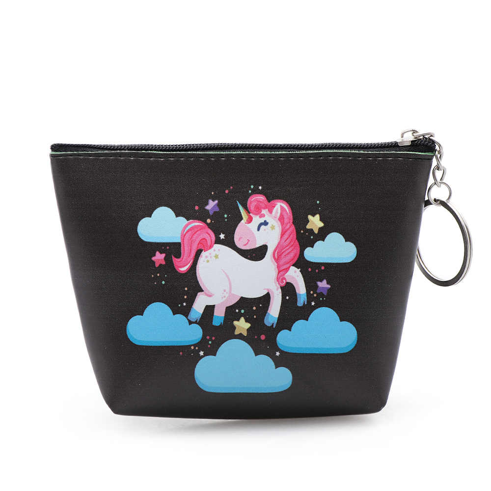 Сумки для женщин Единорог портмоне держатель каваи животных единорог; Фламинго мини-кошелек для мелочи маленькая сумка дети молнии мешок подарок
