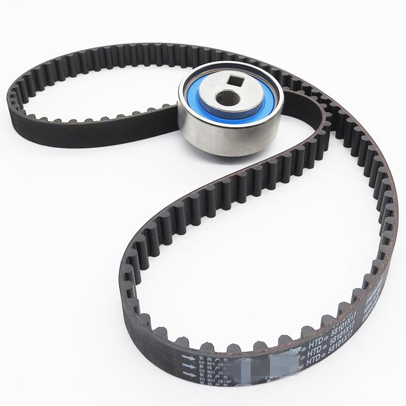 2PCS/SET timing belt Tensioner wheel set for peugeot 206 1.4 8v engine toothed belt timing tensioner set set timing belt set 2set 6 - title=