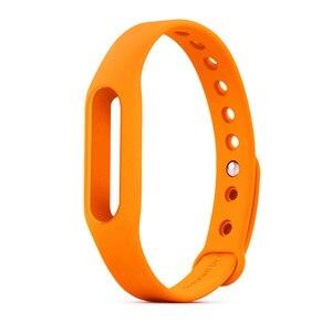 Image 2 - 1 sztuk mi band2 zapasowa opaska pasy miękki zegarek na silikonowej bransoletce dla Xiao mi mi Band 2 pasek czarny zielony pomarańczowy czerwony