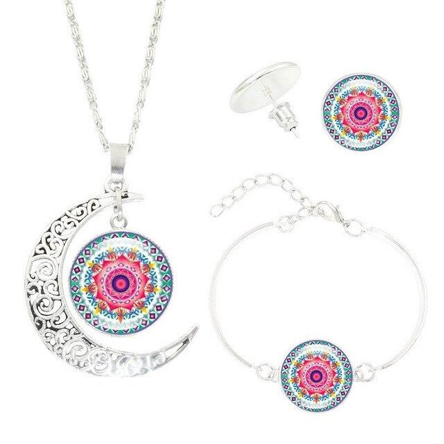 Mandala Flower Moon Glass...