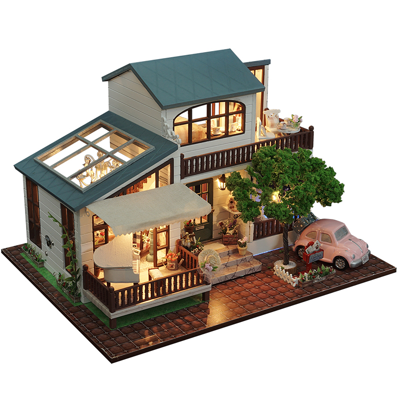 New Diy Miniature Wooden Doll House Furniture Kits Toys Handmade Craft Miniature Model Kit DollHouse Toys Gift For Children A039 handmade doll house furniture miniatura diy building kits miniature dollhouse wooden toys for children birthday gift craft