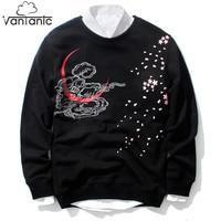 Vantanic New Spring Sweatshirts Men Tiger Embroidery Hoodies Men Fashion Print Pullovers O Neck Cotton Hoodie