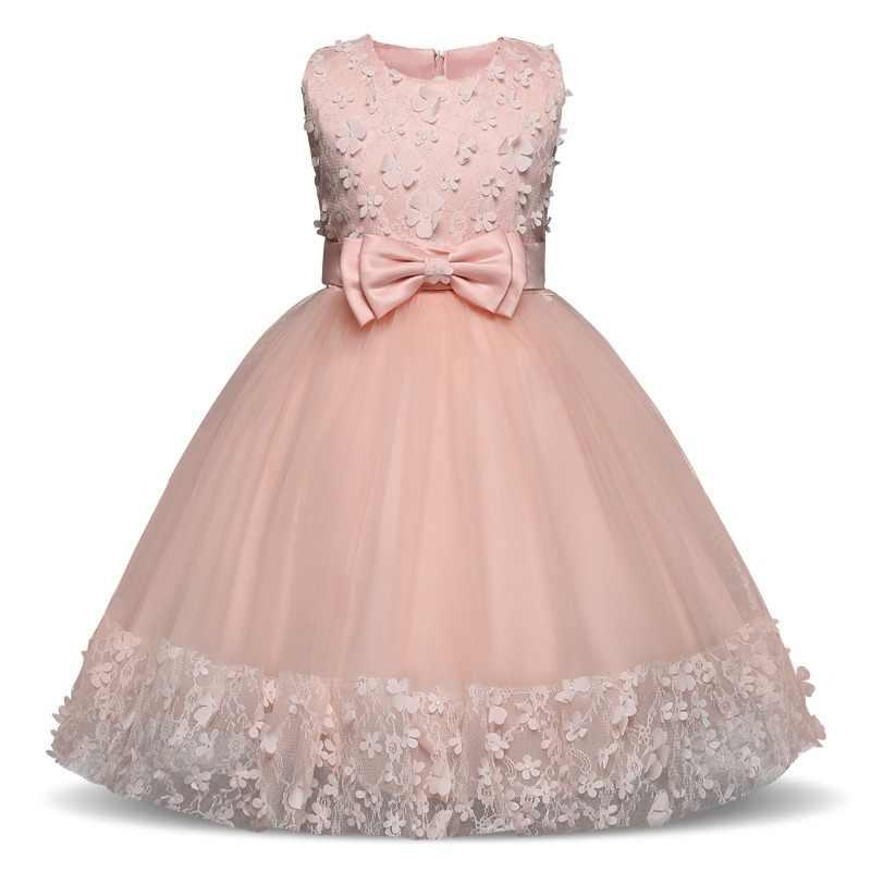 f7330b644 Flor chica vestido de fiesta boda Vestido de traje de niños para chica Bebé  Vestidos 4