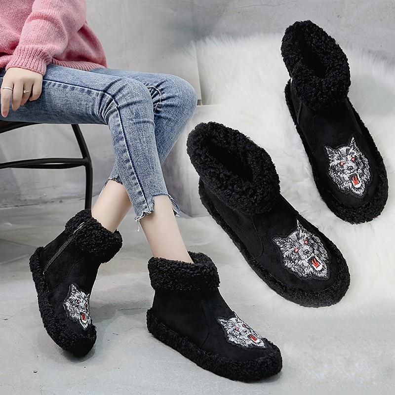 a9794434 Tobillo Chaussure Planas Mujeres 1 2018 Marca Invierno Chelsea Mujer  Snowshoe Lujo De Zapatos La Femme Botines 2 Botas Bordados T0IE5wnxqf