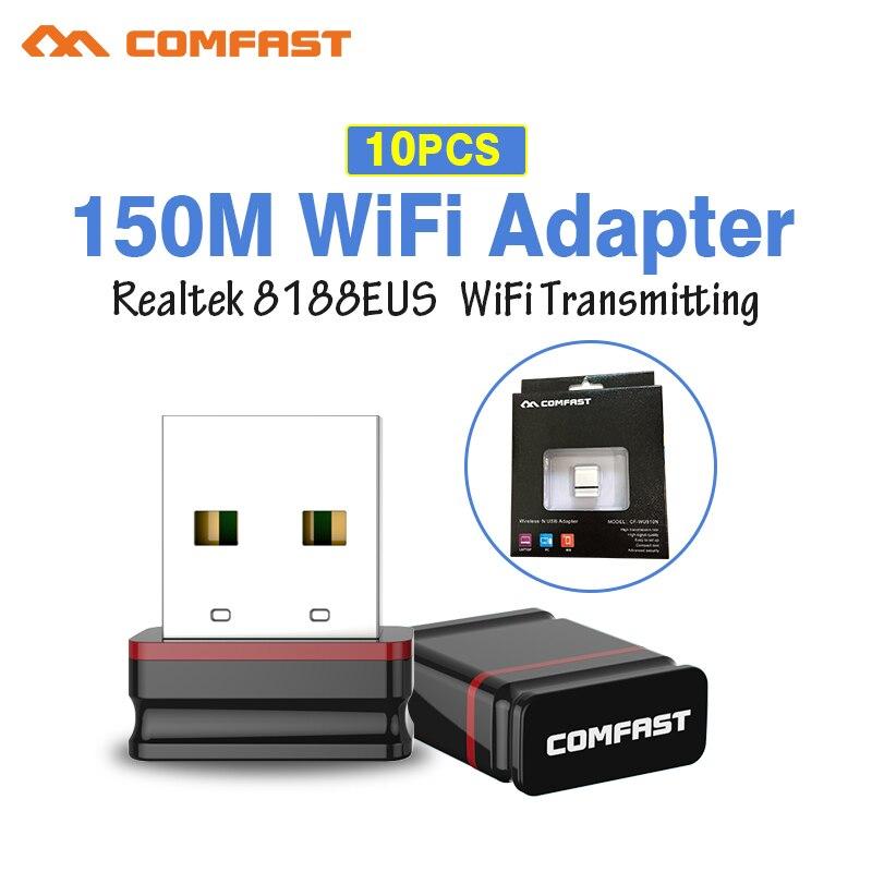 10 Stücke Einzelhandel Pack Mini 150 Mbps Usb Adadapter 802.11b/g/n Wi-fi Antenne Emitter Rtl8188 Eu 2,4 Ghz Wi Fi Empfänger Netzwerk Karte