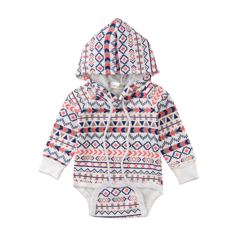 New Fashion Newborn Baby Boys Girls Toddler Loose Hoodie Hooded   Romper   Jumpsuit Clothes Outfits