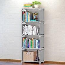 Prateleira de estante simples, prateleira criativa para armazenamento de livros, plantas, artigos diversos, prateleira de combinação diy, andar de pé, estante para crianças