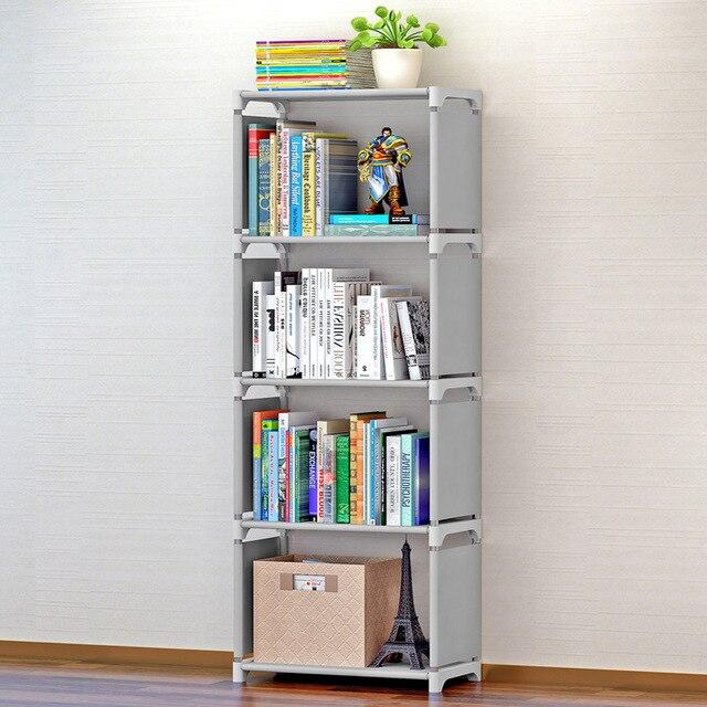 Simple Bookshelf Creative Storage Shelf For Books Plants Sundries DIY Combination Shelf Floor Standing Children Bookcase
