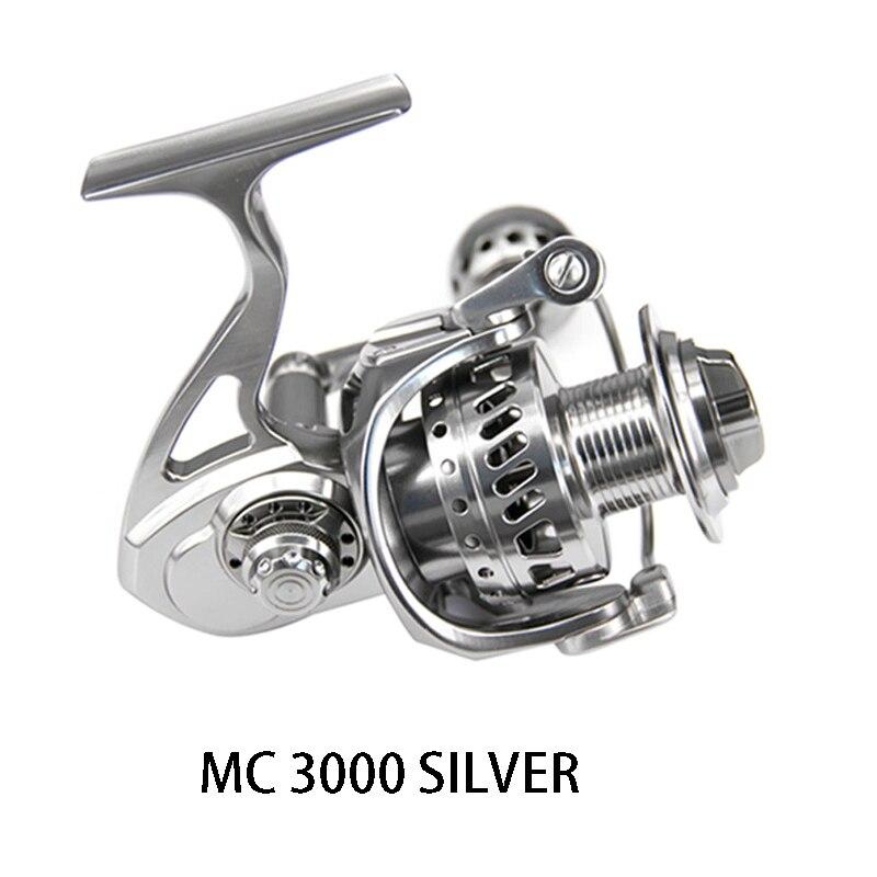 DEUKIO Рыболовная катушка MC3000 MC4000 MC5000 MC6000 металлическое литье 12BB алюминиевая нержавеющая сталь спиннинговая катушка рыболовные снасти Pesca