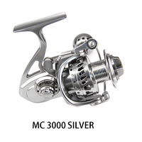 DEUKIO Fishing Reel MC3000 MC4000 MC5000 MC6000 Metal Casting 12BB Aluminum Stainless Steel Spinning Reel Fishing Tackle Pesca