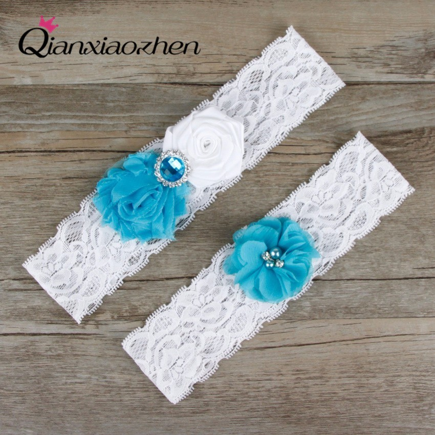 What Is A Garter At A Wedding: Aliexpress.com : Buy Qianxiaozhen 2pcs/set Blue And White