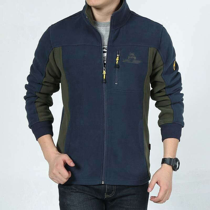 New Fashion Patchwork Cardigan Hoodies Soft Thick Warm Fleece Sweatshirt Men Casual Jacket Stand Collar Autumn Winter Male Coat