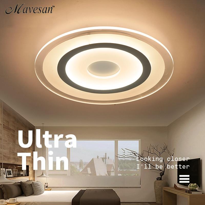 US $77.0 49% OFF|Neue Kreis Innen Beleuchtung Moderne Led deckenleuchten  für Wohnzimmer Schlafzimmer Lampe lamparas de techo abajur Decke Lampe ...