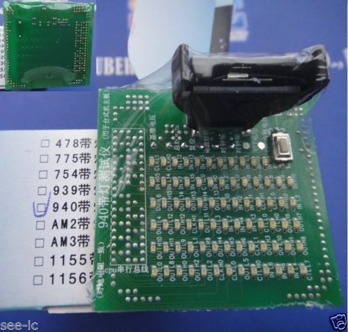 De 940 de CPU testador tomada de carga carga falso manequim com LED