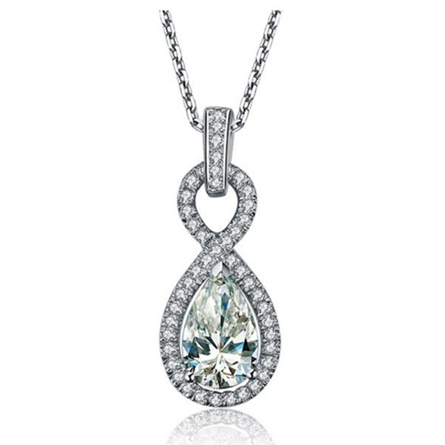 Wholesale 2carat synthetic pear diamonds pendant engagement jewelry wholesale 2carat synthetic pear diamonds pendant engagement jewelry necklace water drop sterling silver sweater pendant jewellry aloadofball Images