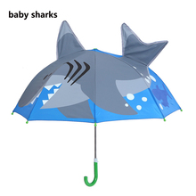 hot deal buy deep-sea shark cartoon patterns umbrellas kids boys girls umbrellla for children paraguas parasol fashion umbrellas-01