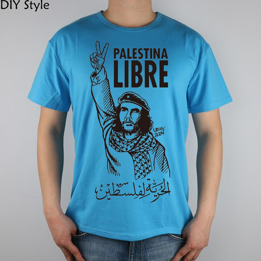 Liberation of Palestine Che Guevara People T-shirt Top Lycra katoenen heren T-shirt