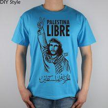 Liberazione della Palestina Che Guevara Persone T-Shirt Top Lycra Cotone maglietta Degli Uomini