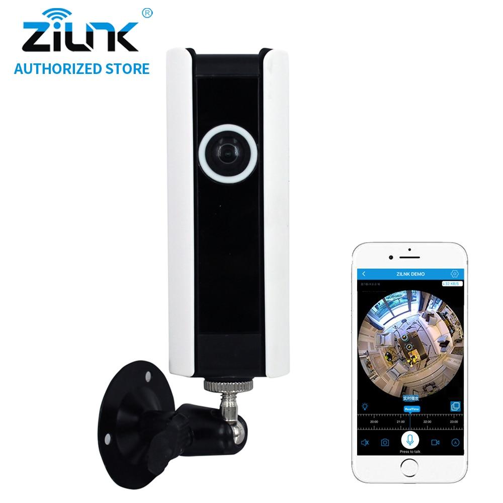ZILNK NEW 1MP 720P HD Fisheye 185 Degree Panorama Mini Wireless WiFi IP Camera Two Way Audio SD Card Security CCTV VR Cam White fpv 1 2ghz 100mw 4ch wireless audio