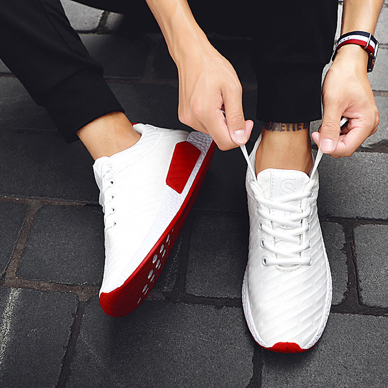 Shoe Sneakers Jogging-Shoes Comfortable Outdoor White Casual Men Chaussure Mesh Homme