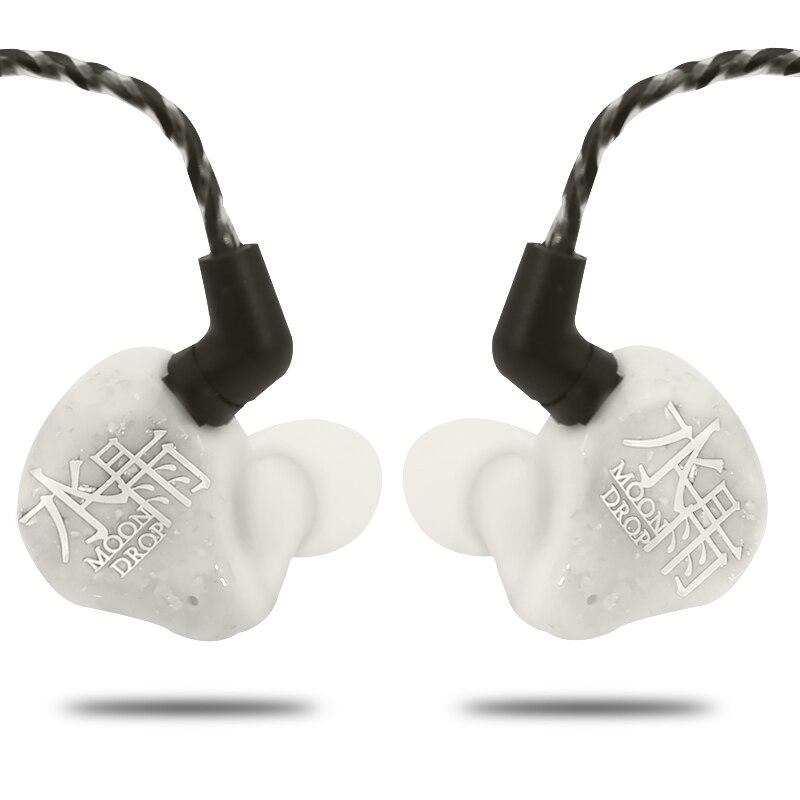 AK Moondrop Bénédiction 1DD + 4BA 1 Dynamique + 4 Solde Armature Hybride HiFi Moniteur écouteurs intra-auriculaires DJ écouteur de sport