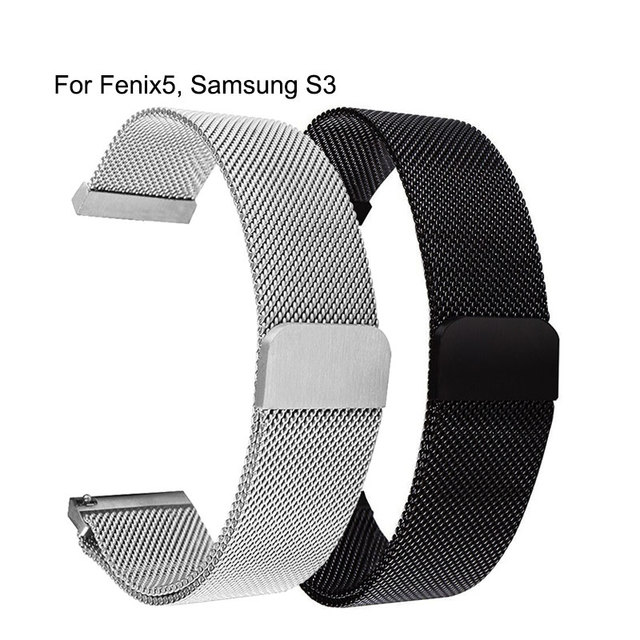 Universal Milanese Magnetic Metal strap 20mm 22mm For Samsung Galaxy Watch 42mm 46mm For Samsung Gear S2 S3 watchband 14-24mm 2