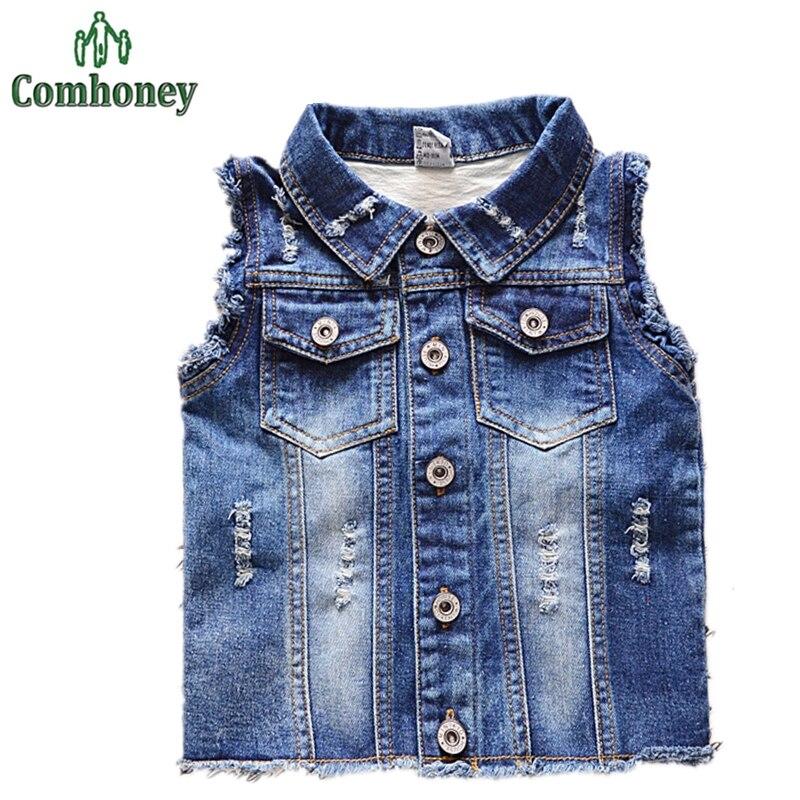 Aliexpress.com : Buy Girls Vest Denim Toddler Baby Boy Jean Jacket ...