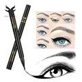 Huamianli maquillaje negro brown eyeliner lápiz impermeable del maquillaje delineador líquido maquillaje de larga duración delineador de ojos suave meticuloso