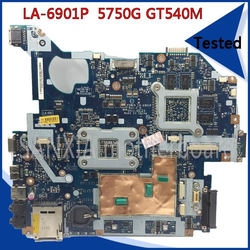 SHELI LA-6901P motherboard for Acer 5750 5750G 5755 5755G original tested laptop motherboard GT540M HM65 100% work nokotion laptop motherboard for acer aspire 5750 5750g mbrcg02006 p5we0 la 6901p mb rcg02 006 gt540m ddr3 mainboard