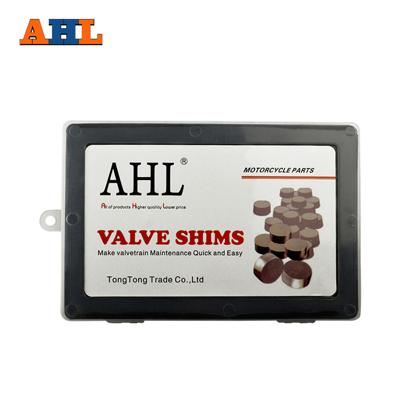 AHL Motorcycle Engine Parts Adjustable Valve Pad Shims 7.48mm Complete Valve Shim Kit Cams 1.2 ~ 3.5 (include 5pcs)