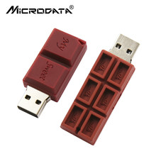 USB Flash Cartoon Love Sweet Chocolate Flash Drive 4GB 8GB Clef USB 2.0 Flash Memory Stick 16GB 32GB 64GB Flash Drive Pendrive(China)