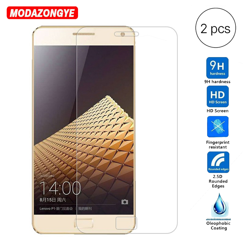 Galleria fotografica 2Pcs Tempered Glass For Lenovo Vibe P1 Screen Protector 2.5D 9H Film Tempered Glass For Lenovo Vibe P1 P1A42 C72 C58 P1C72 P1C58