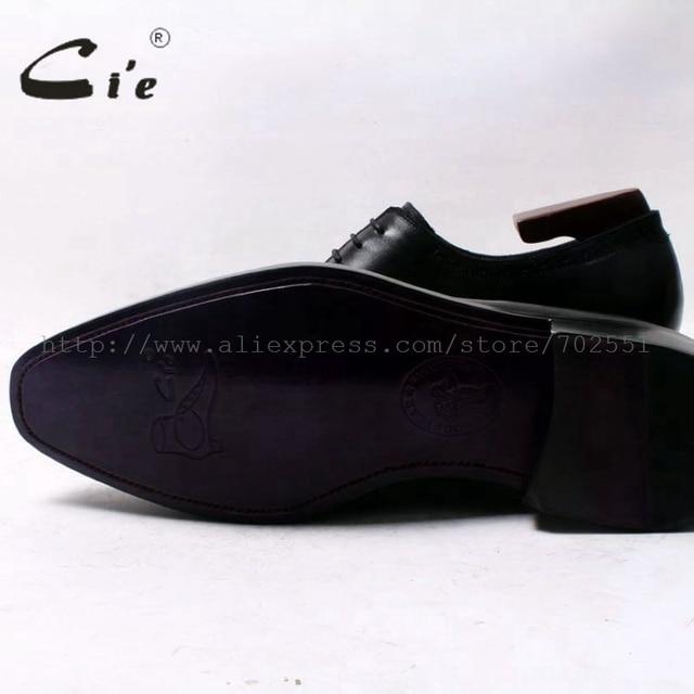 cie Square Toe Wholecut Semi-Brogues Oxfords Black 100%Genuine Calf Leather Men Leather Shoe Bespoke Men Leather Handmade OX344