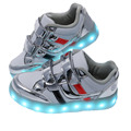 Usb recargable led glowing light shoes 2017 nuevos niños transpirable zapatillas de deporte para niños luminoso shoes