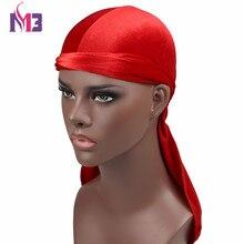 5PCS Wholesales Mens Velvet Durag Turban Hat Bandana High Quality Headwear Headband Hair Accessories