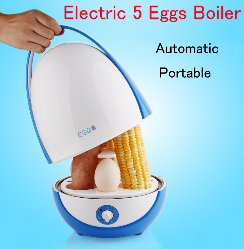 Automatic Electric 5 Eggs Boiler Portable Egg Steamer Multifunctional Egg/ Corn Cooker Household Food Steamer eggs steamer chicken shaped microwave 4 egg boiler cooker novelty kitchen cooking appliances steamer home tool