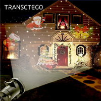 12 Patterns Christmas LED Laser Light Snowflake Projector Lamp Outdoor IP65 Waterproof Home Garden Star Decoration Spot Light