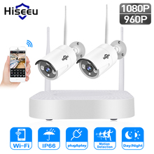 Hiseeu 1080P wireless CCTV System 2pcs 2.0MP Outdoor IP Camera HD 1080P NVR Recorder Video Security Camera Surveillance System