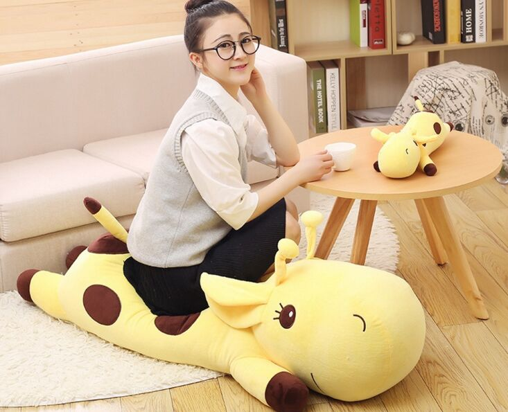 one piece big lovely plush yellow giraffe toy new lying giraffe doll gift about 110cm 2698 lovely giant panda about 70cm plush toy t shirt dress panda doll soft throw pillow christmas birthday gift x023