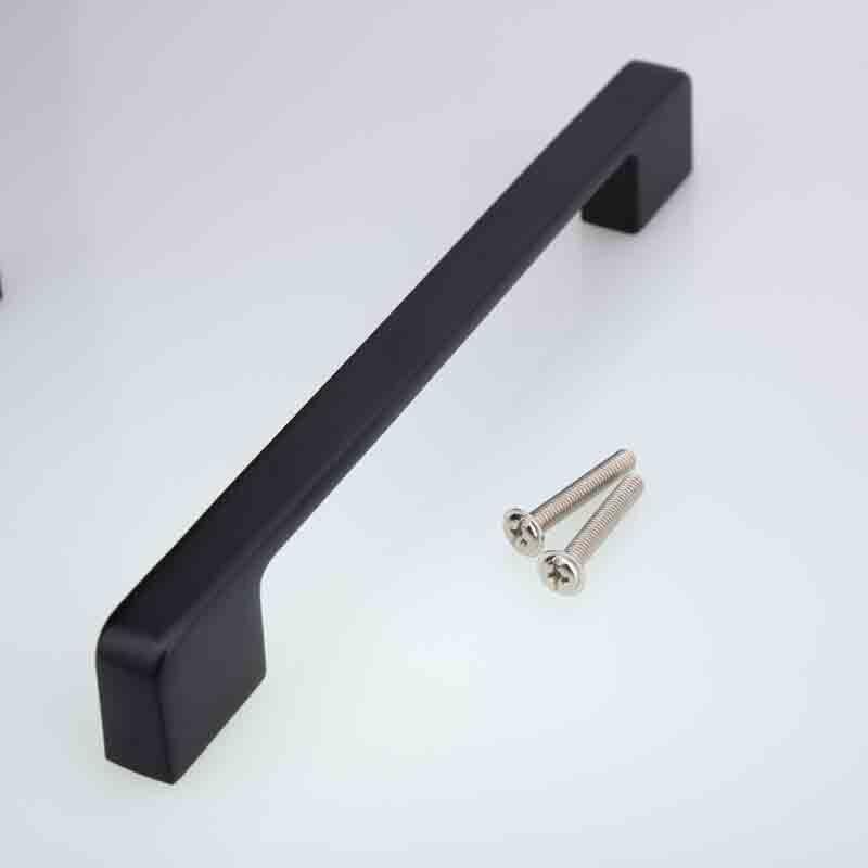 poignee de meuble moderne noire mate de 160mm poignee de porte de placard de cuisine de tiroir de commode antique 6 3 pouces