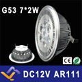 G53 ES111 QR111 AR111 LED lamp 14W Spotlights 7*2w lights Warm White /Nature White/Cool White Input AC/DC 12V  LOW Voltage