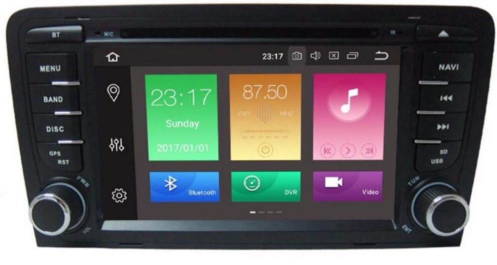 Android 8.0! CAR DVD GPS For Audi A3 with dvd player radio RAM 4G ROM 16G/32G stereo Audio auto multimedia screen navigation