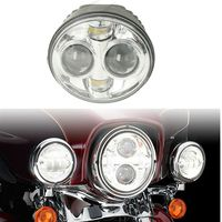 7 LED Projector Headlight For Harley Touring Heritage Softail Classic FLSTC Electra Street Glide Road King Trike 14 16