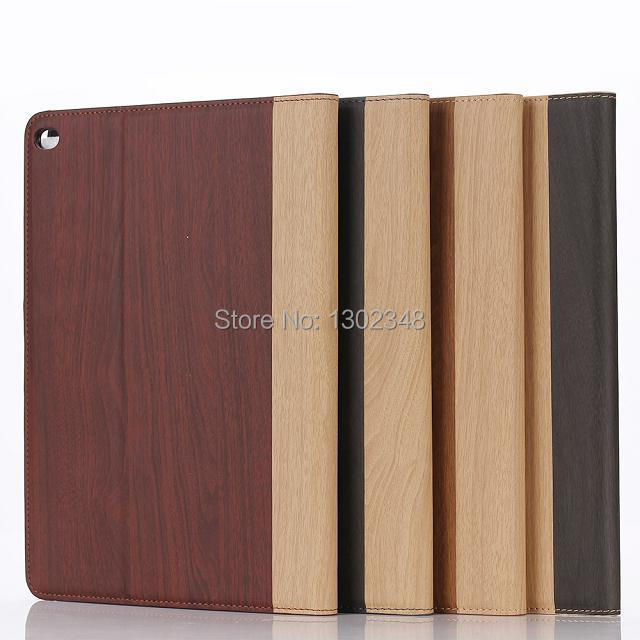 New Wood Grain Leather Tablet Case for iPad Air 2 iPad 6 Protective Case For Apple iPad6 ipad Air2 Flip with Stand Tablet Cover wood grain pu leather tablet cover for apple ipad air 1 ipad 5 stand case for ipad air 2 ipad 6 screen protector stylus pen