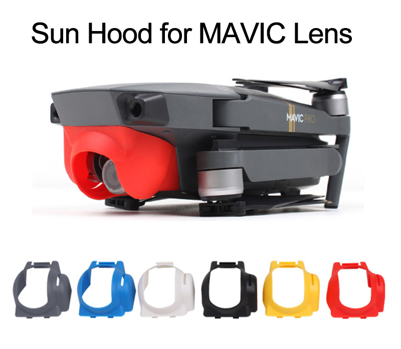 White for DJI Mavic Pro Gimbal Camera Lens Hood Sunshade Camera Protector Mavic Pro Camera Shield Anti-Glare Gimbal Guard Cover Cap