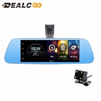 Dealcoo 8 IPS 4G Special Car DVR Camera Mirror GPS Bluetooth WIFI 16GB Android 5.1 Dual Lens FHD 1080p Video Recorder Dash Cam