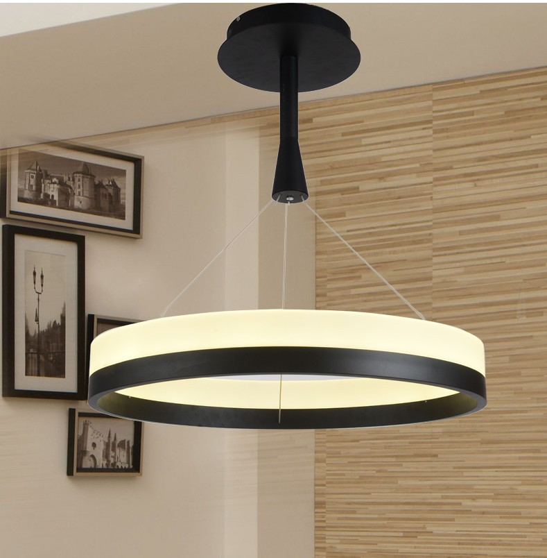 Aliexpress Buy New LED Acrylic Chandelier Fixture Black Remote Control Pendant Lamp Modern Living Room Bedroom Restaurant Hanging Light From Reliable