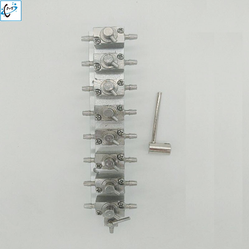 8 connector printhead cleaning valve for Infinity Zhongye Iconteck Crystal Gongzheng Witcolor Allwin Printer cleaner valve allwin c8 km512 heads printer mainboard