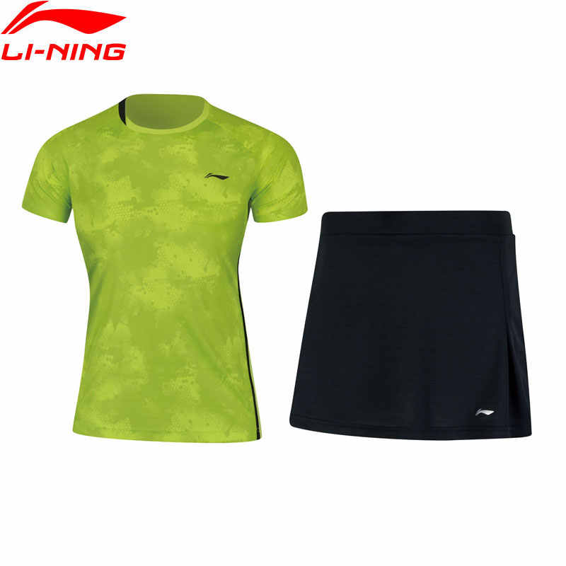Li-Ning Women's Badminton Competition Sets T-shirts + Skirts Suits Breathable AT DRY LiNing Sports Set AATN012 WAT1167
