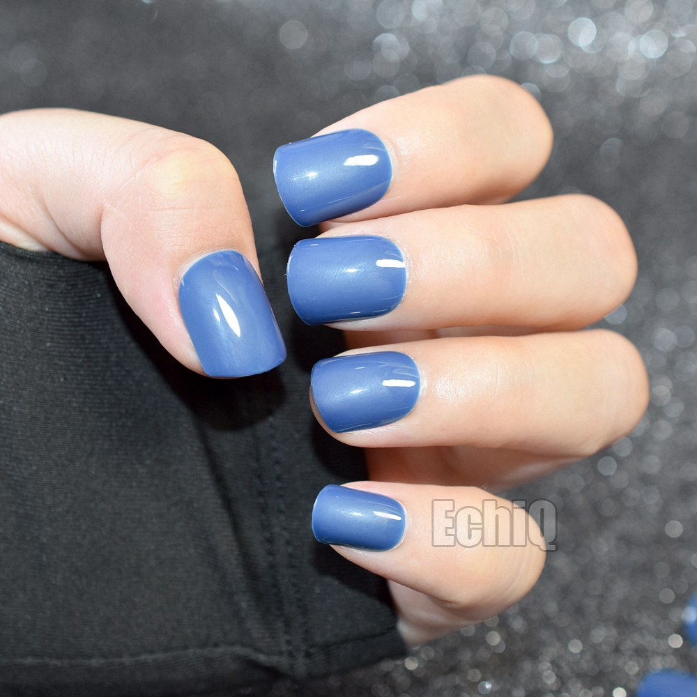 Light Blue Acrylic Nails Short Square